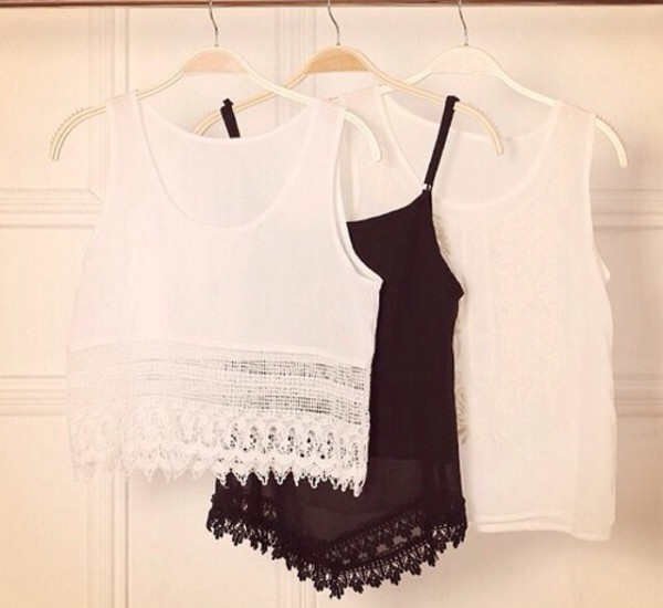 top white top lace