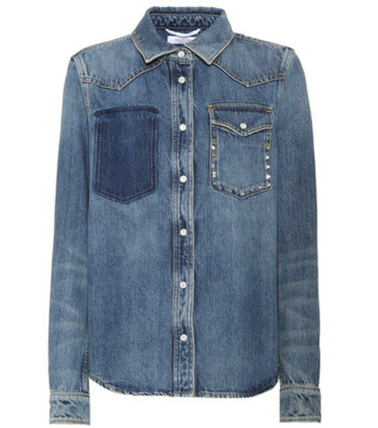 Valentino jacket denim jacket denim blue