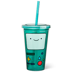 ThinkGeek :: BMO Acrylic Cup with Straw