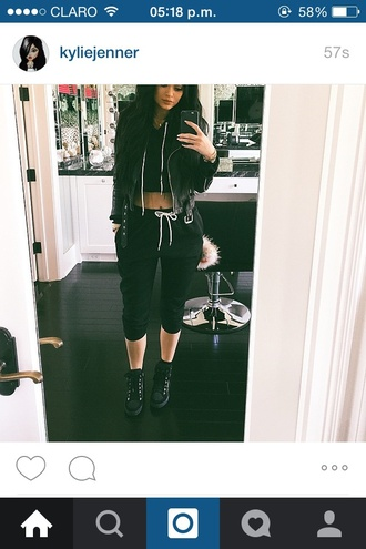 pants black kylie jenner jumper