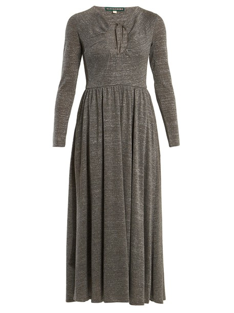 ALEXACHUNG dress cut-out silver