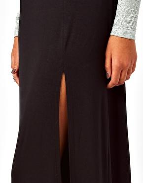 Lipsy   Lipsy Maxi Skirt with Split Detail at ASOS