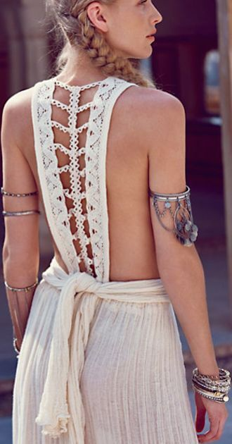 dress toga white braided back boho white dress open back open back dresses boho chic boho dress greek goddess greek style wedding dressses greek style greek style bridal gowns hippie hippie chic hippie dress summer summer dress summer outfits beach beach dress