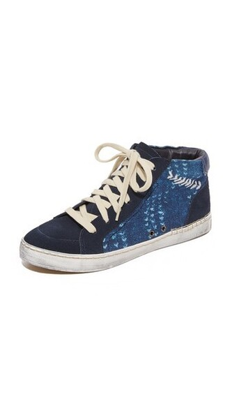 high sneakers high top sneakers blue shoes