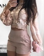 blouse,pink,pink top,pastel pink,light pink,pink rosa  victorian blouse