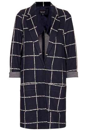 Check Print Throw On Coat - Jackets & Coats  - Clothing  - Topshop USA