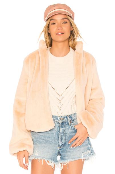 TULAROSA jacket faux fur jacket fur jacket fur faux fur blush