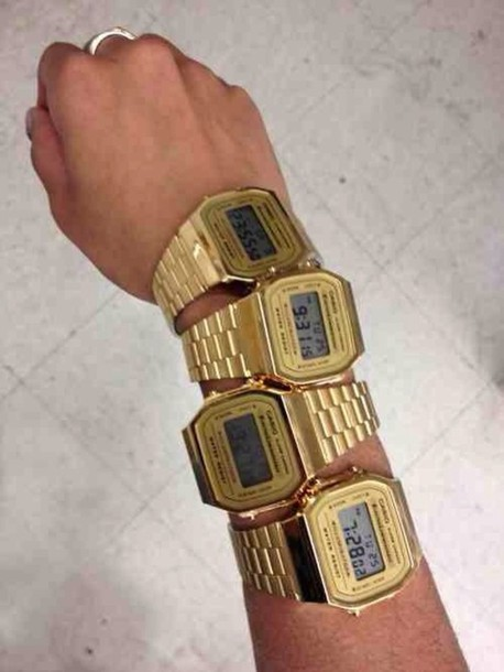 jewels gold cute watch old casio watch