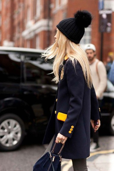 streetstyle coat yellow marine