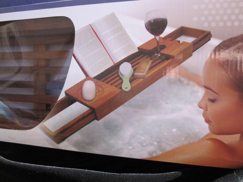 Amazon.com - Blissful Bath TEAK Tub Tray Caddy -