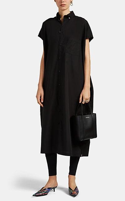 Balenciaga Raw-Edge Cotton Poplin Shirtdress | Barneys New York
