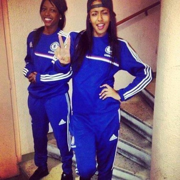 blue jogging adidas jacket chelsea