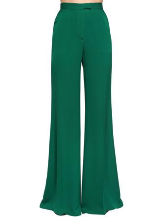 pants silk green