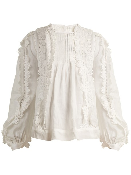 Isabel Marant blouse embroidered lace white top