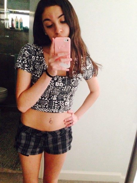shorts black plaid cute