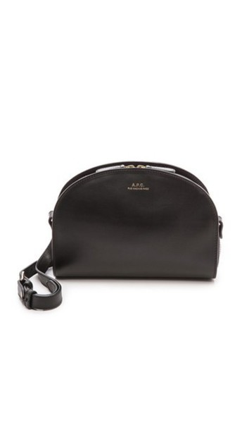 A.P.C. A.P.C. Half Moon Bag - Black