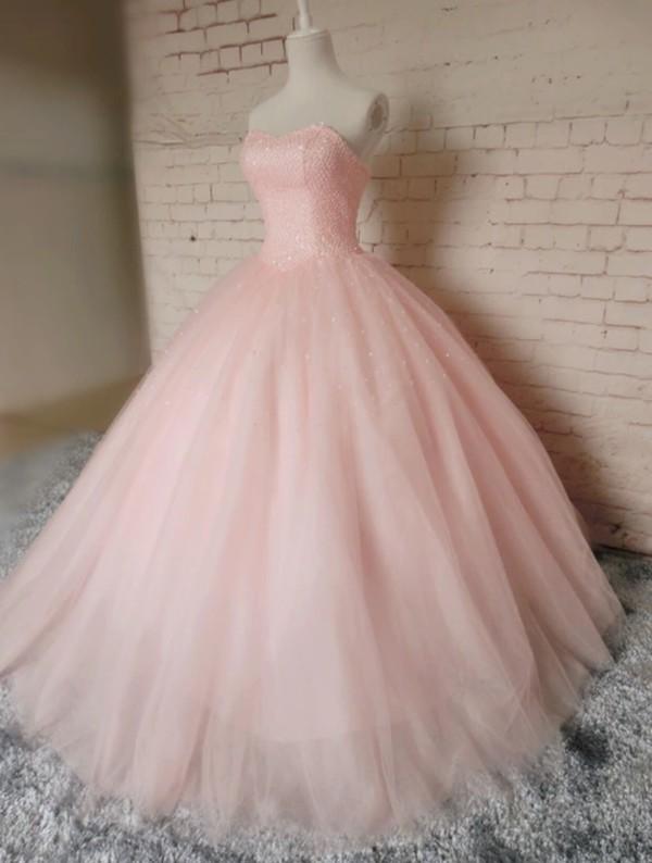 dress light pink dress pink ball gown dress wheretoget