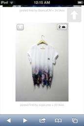 shirt,oversized t-shirt,t-shirt,flowers,semi-faded