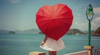 sunglasses red heart umbrella