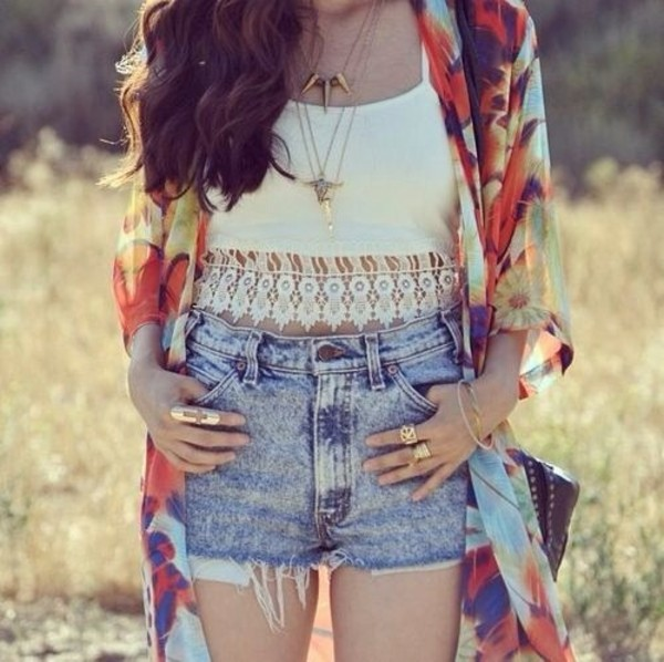 t-shirt crop summer white jacket jewels shorts tank top hippie shirt lace white tank top indie boho shirt stomach free shirt gold cross jewelry ring top cardigan hipster