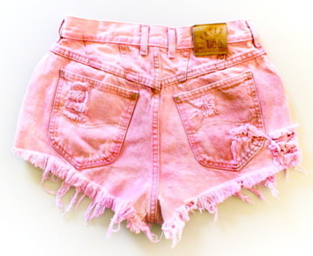 shorts fashion cute pink urgent high waisted ask question pretty like answer girl girly pink High waisted shorts