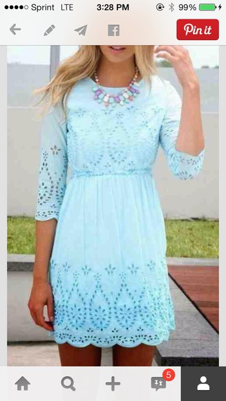 lace dress summer dress turquoise cyan