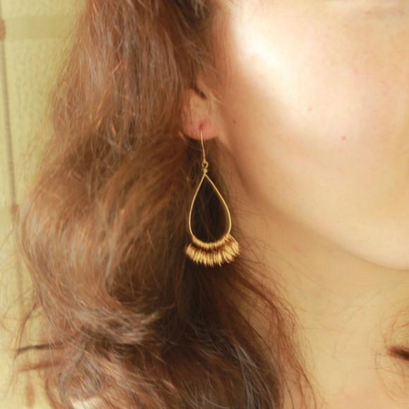 jewels earrings handmade 14k gold gold filled earrings set