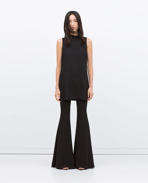pants zara zara pants flare flared trousers flare wide leg wide-leg pants  wide leg 0b63c1729d90