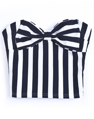 top striped crop top stripes crop tops cropped striped bow bows