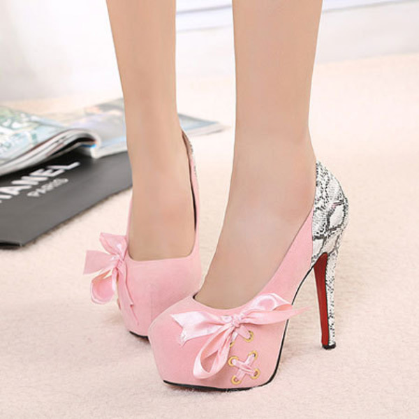 shoes high heel elegant lace bowknot cross