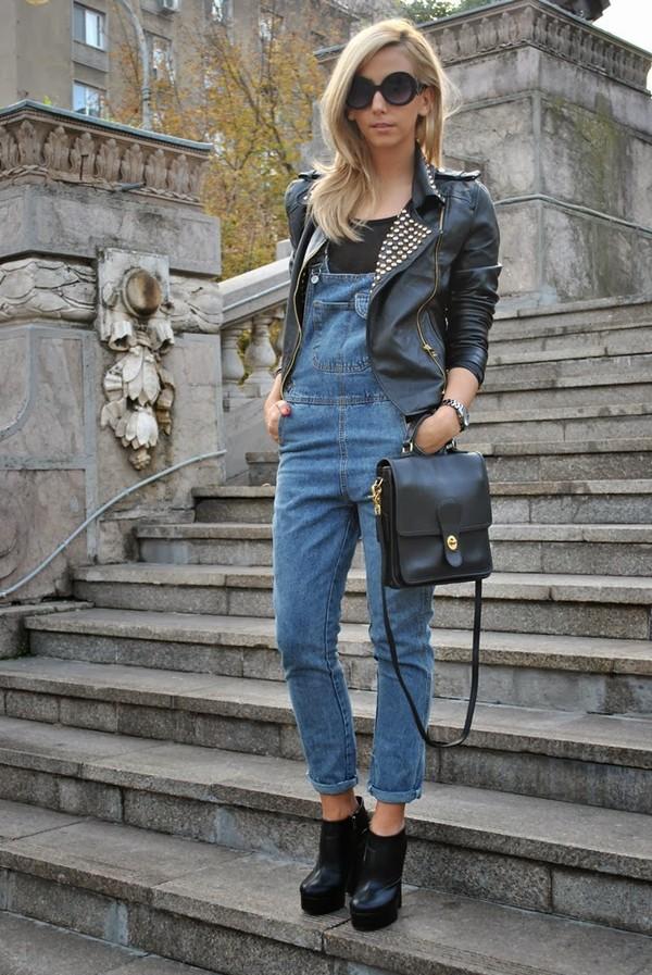let's talk about fashion ! jacket pants shoes sunglasses bag