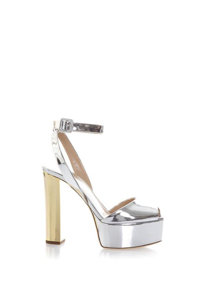 Giuseppe Zanotti metallic sandals leather sandals leather gold silver shoes