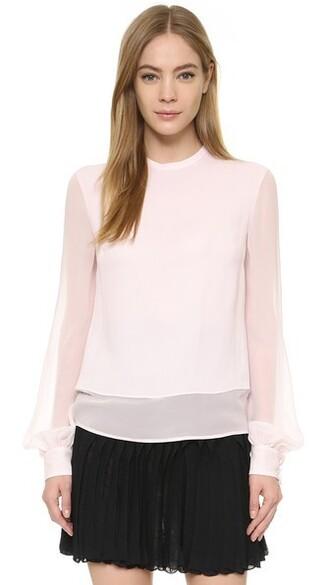 blouse long blush top