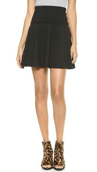 skirt flare skirt high waisted flare high black