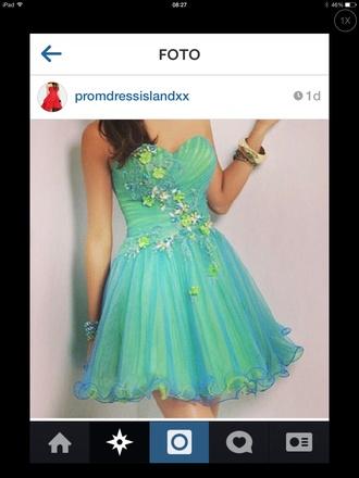 dress prom dress beautiful blue dress