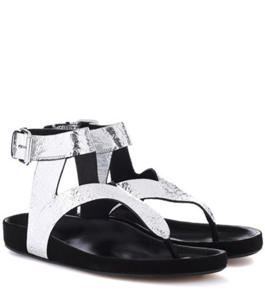 Isabel Marant sandals leather sandals leather silver shoes