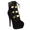 Ladies womens very high heel lace up platform stiletto ankle boots shoes size | ebay