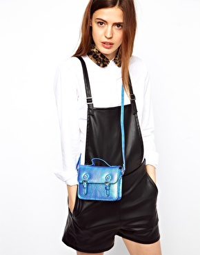 ASOS | ASOS Mini Satchel Bag With Buckles at ASOS