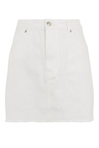 skirt mini skirt denim mini white