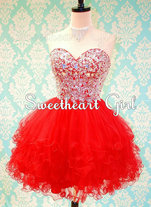 Sweetheart Girl | Cute sweetheart mini ball gown prom dress/homecoming dress | Online Store Powered by Storenvy