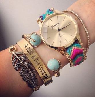 jewels geneva girly bracelets gold bracelet cuff bracelet stacked bracelets jewelry boho boho jewelry boho chic bohemian summer summer accessories trendy
