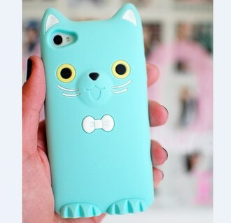 phone cover blue cats iphone case bow tie 5s cute iphone cover iphone iphone 5 case iphone 5s cellphone