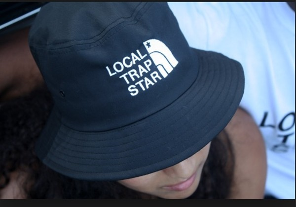 hat navy local trap stars bucket hat