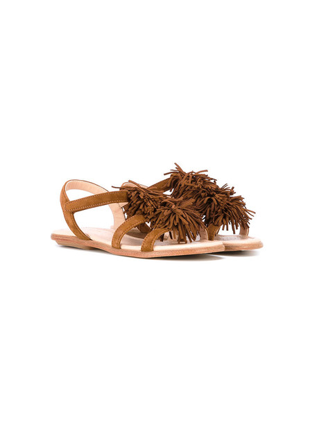 Aquazzura Mini sandals leather suede brown shoes