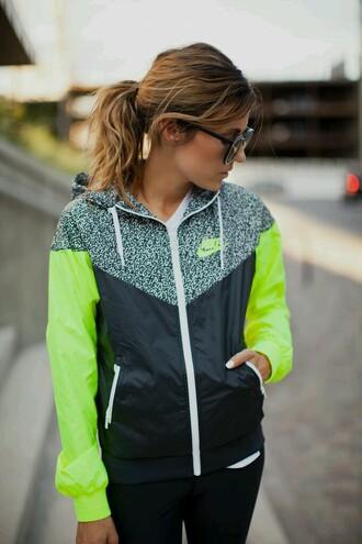 coat jacket windbreaker nike colorblock