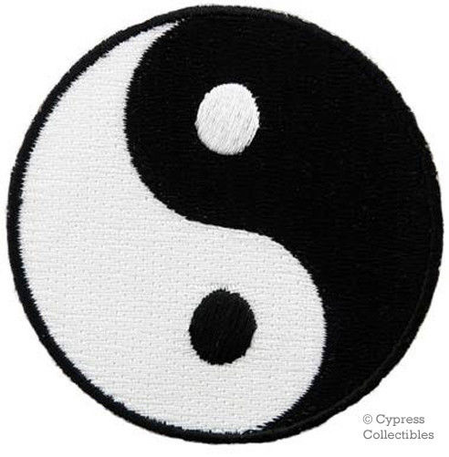 Yin Yang Embroidered Iron on Patch Karate Ying Tai Chi | eBay