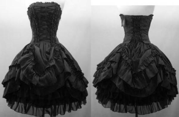 Elegant Evening Dresses Short Punk Steam Gothic Party 2015 Spring