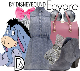 dress jeans disneybound polka dots dress denim dress