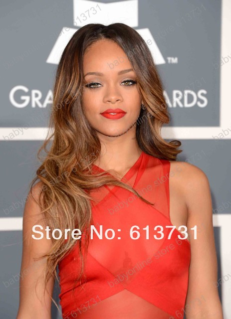 2013 gremmy awards red chiffon backless sexy rihanna celebrity red carpet dresses prom gown