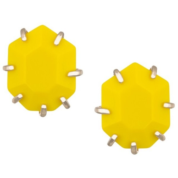 Morgan Stud Earrings in Yellow - Kendra Scott Jewelry - Polyvore